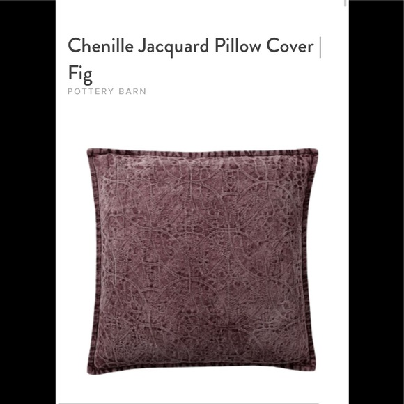 Pottery Barn Chenille Pillow Cover - @meghue
